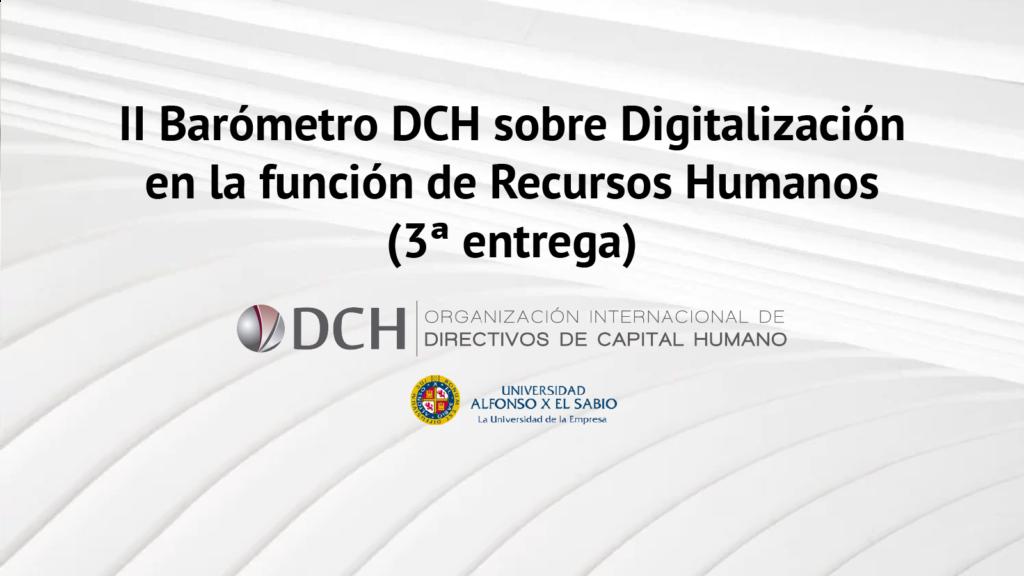 II Barómetro DCH sobre Digitalización en la función de Recursos Humanos
