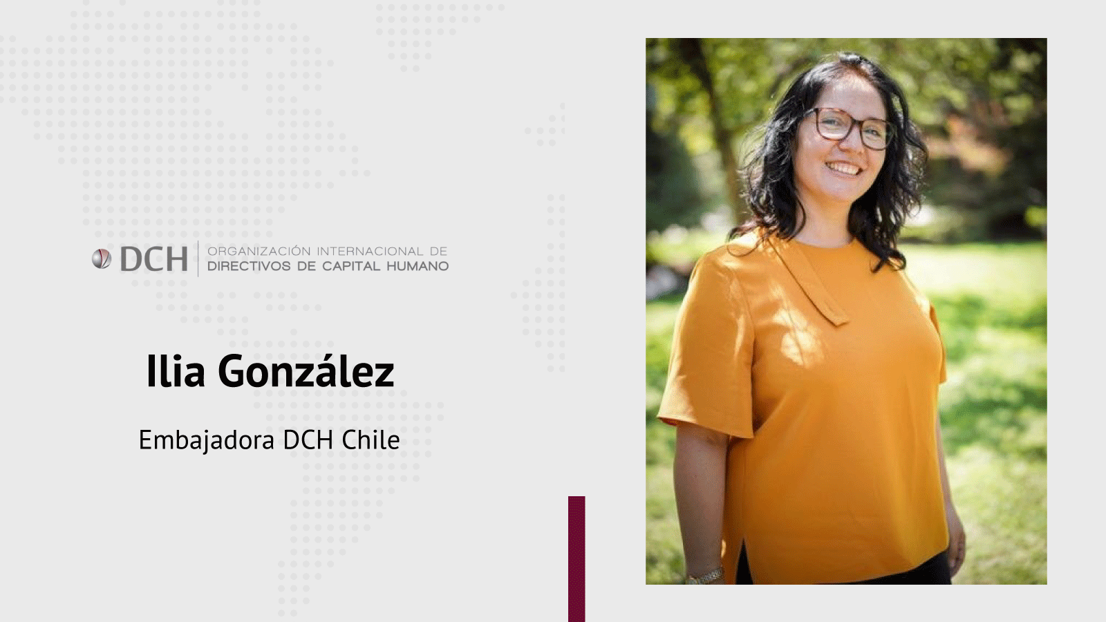 Embajadora de DCH en Chile