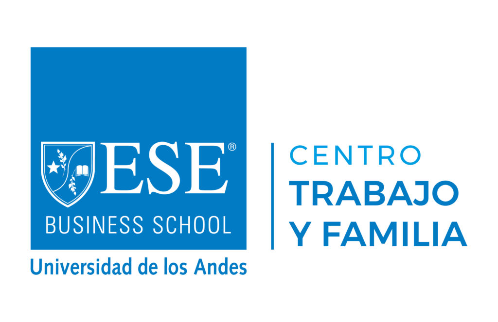Logo Centro Trabajo y Familia azul